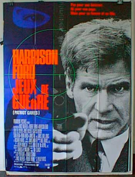 Patriot Games French Release Original Movie Poster