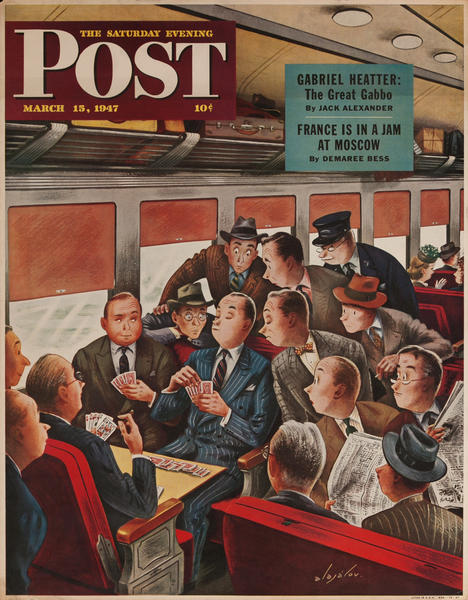Saturday Evening Post Magazine Newstand Poster March 15, 1947
