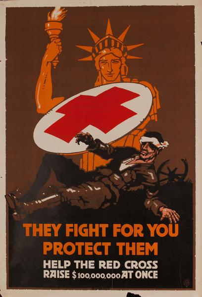 They fight for you - protect them Help the Red Cross raise $100,000,000 at once.