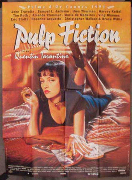 Pulp Fiction Original French release Movie Poster