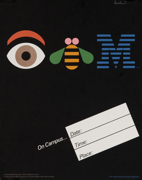 IBM (eye bee M) Rebus College Campus Recruiting Poster