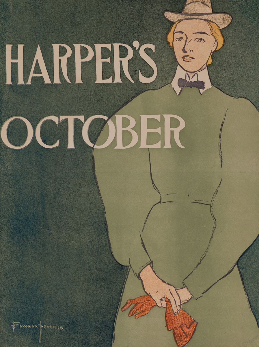 Harpers October 1896 Advertising Poster