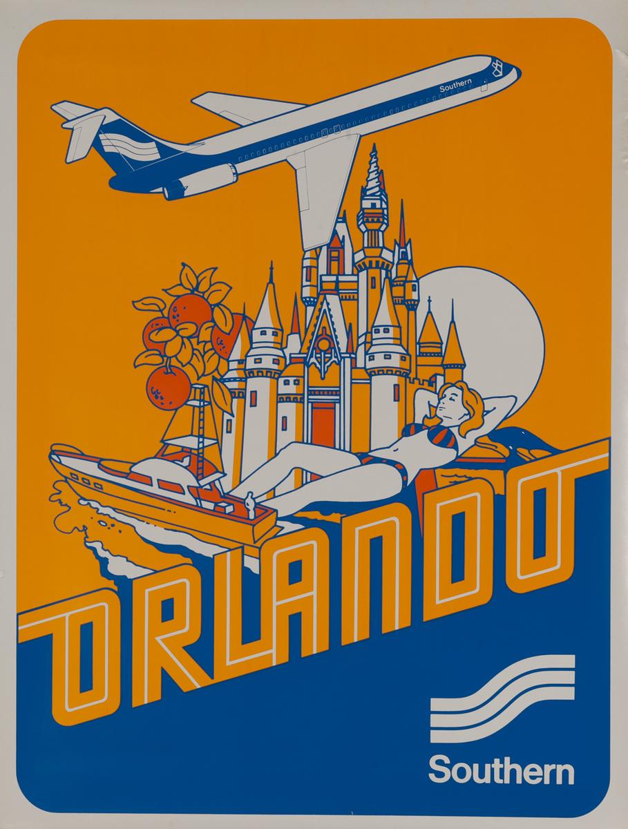 Southern Airways Travel Poster, Orlando Florida