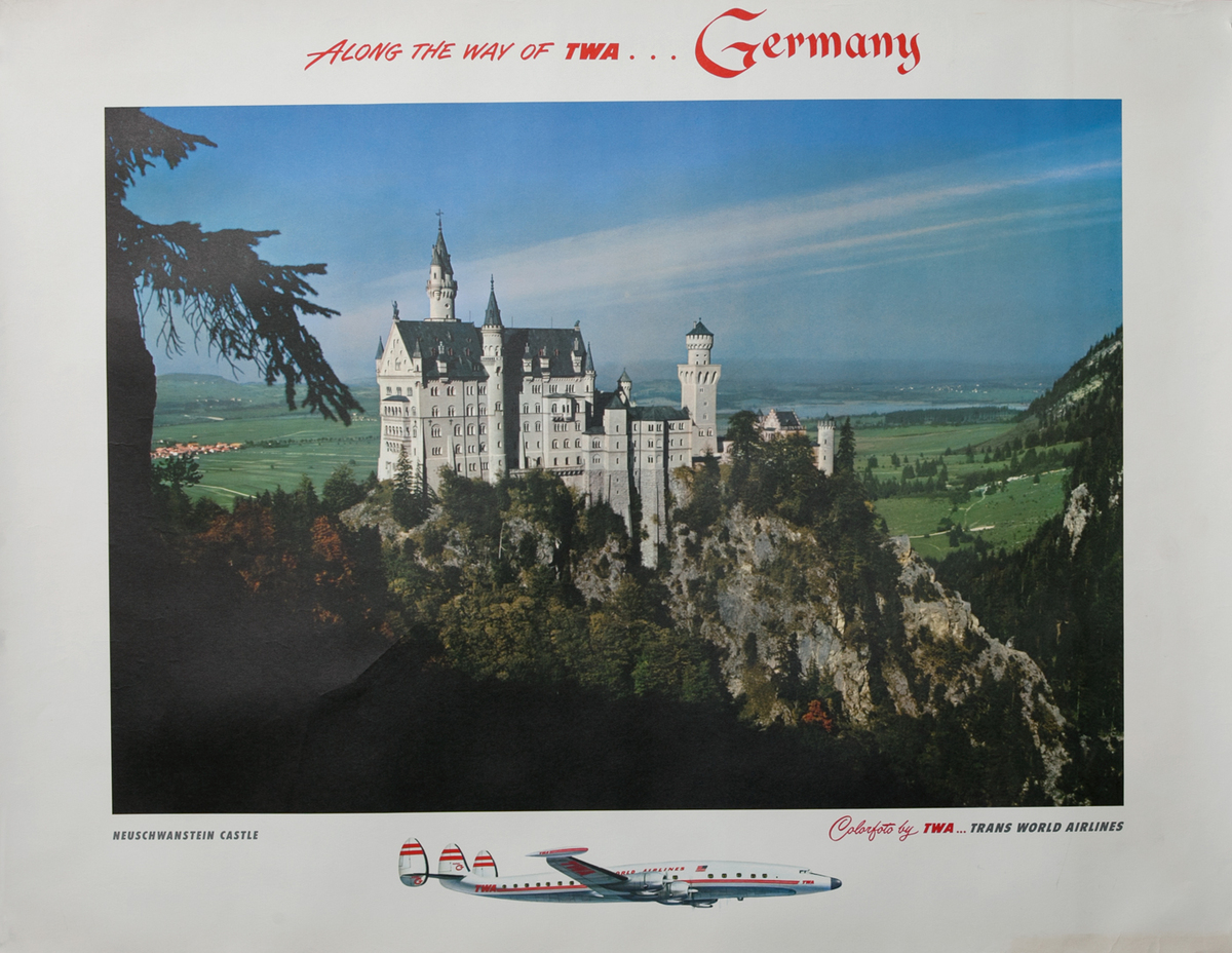 Along the way of TWA.. Germany, Neuschwanstein Castle Poster