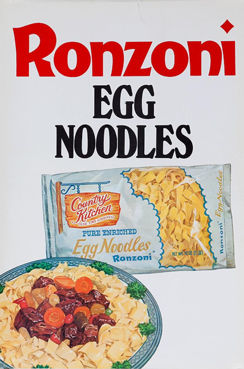 Ronzoni Italian Food Original Advertising Poster Egg Noodle