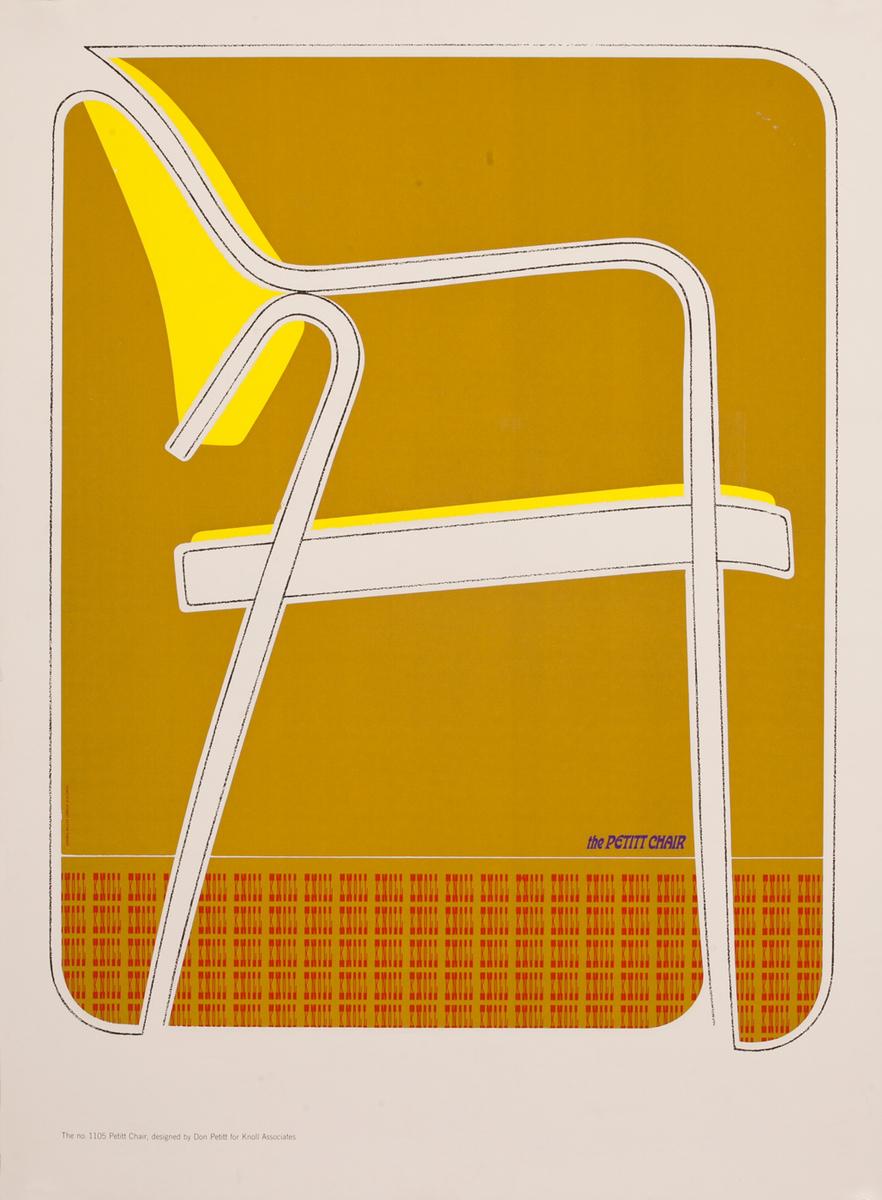 the PETITT Chair, Knoll Furniture Adverising Poster