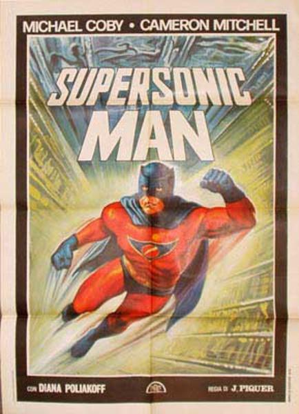 Supersonic Man Italian Vintage Original Movie Poster