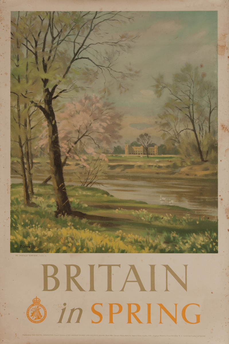 Britain in Spring, British Tourist and Holiday Board Poster