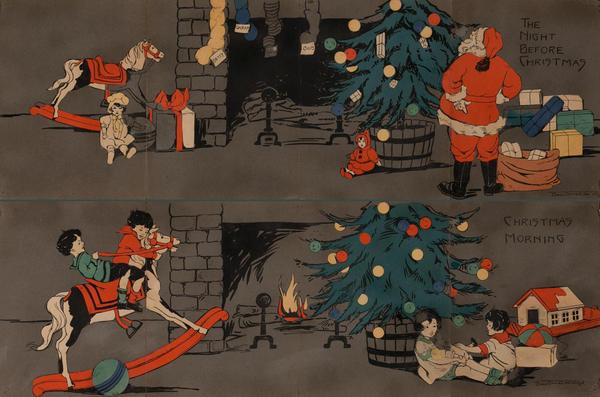 The Night Before Christmas - Christmas Morning Decorative Panels