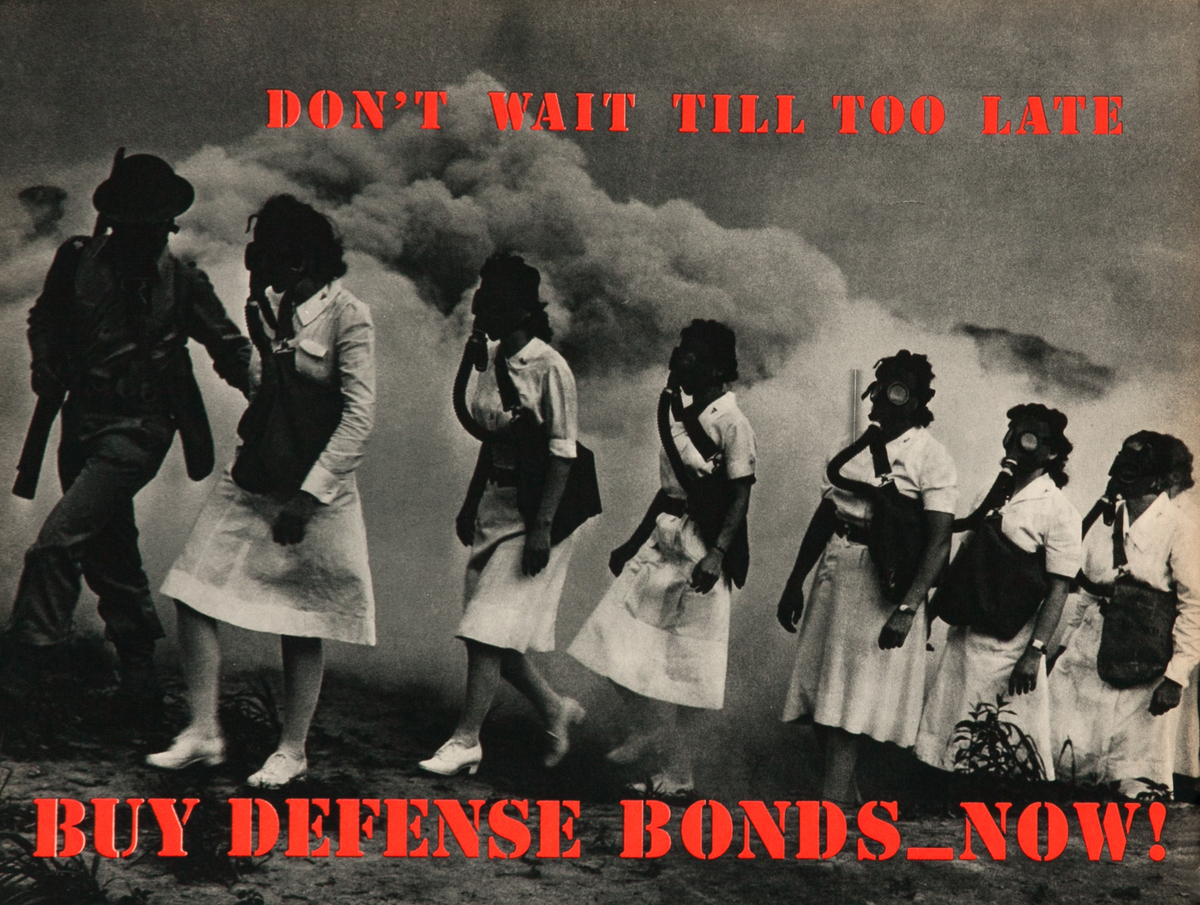Don't Wait Till Too Late, Buy Defense Bonds_ Now! WWII Poster