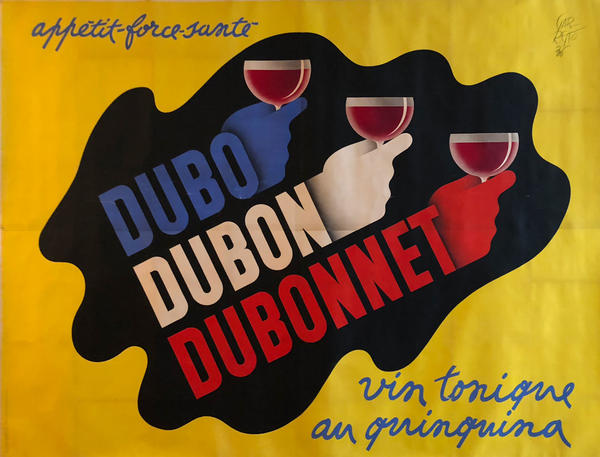 Dubo Dubon Dubonnet, vin tonique au quinquina French Advertising Billboard