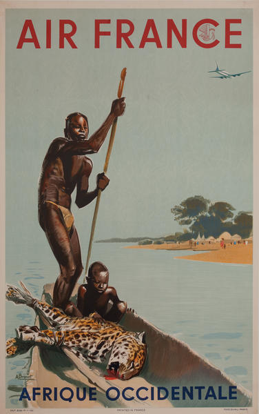 Air France Afrique Occidentale Travel Poster