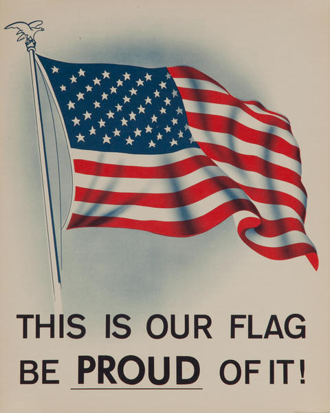 This is our flag, Be PROUD of it! American Citizenship Poster