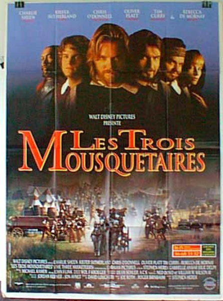 Three Musketeers French Release Original Movie Poster