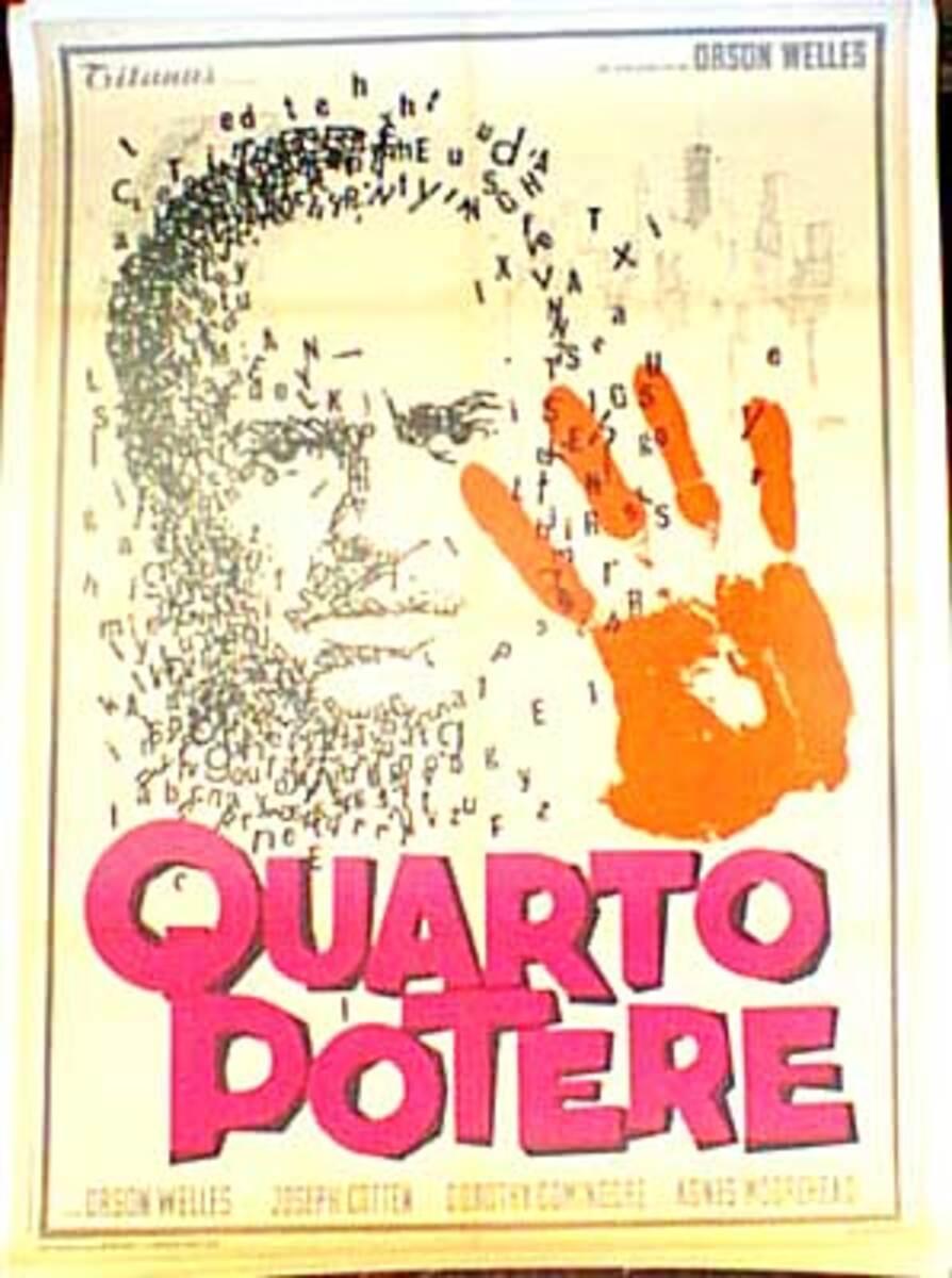 Citizen Kane Italaian release Vintage Original Movie Poster
