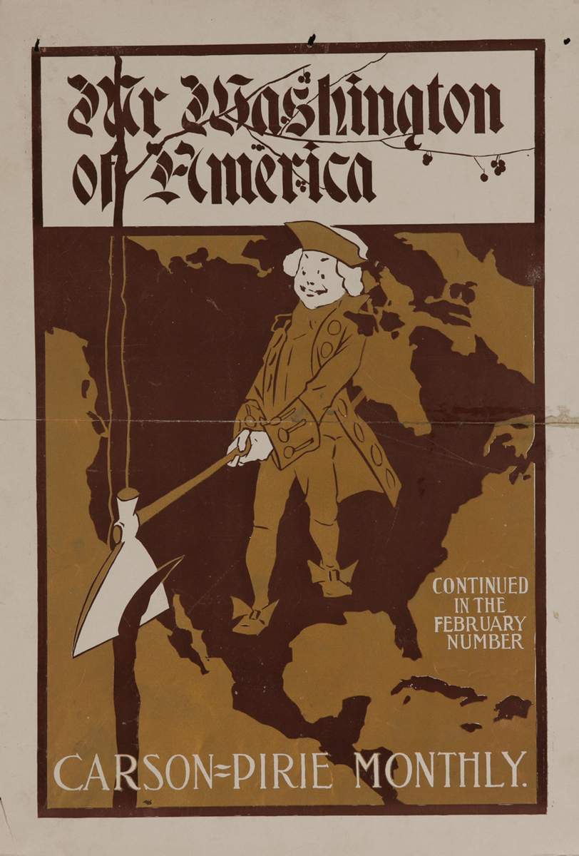 Carson Pirie Monthly American Literary Poster Our Washington of America