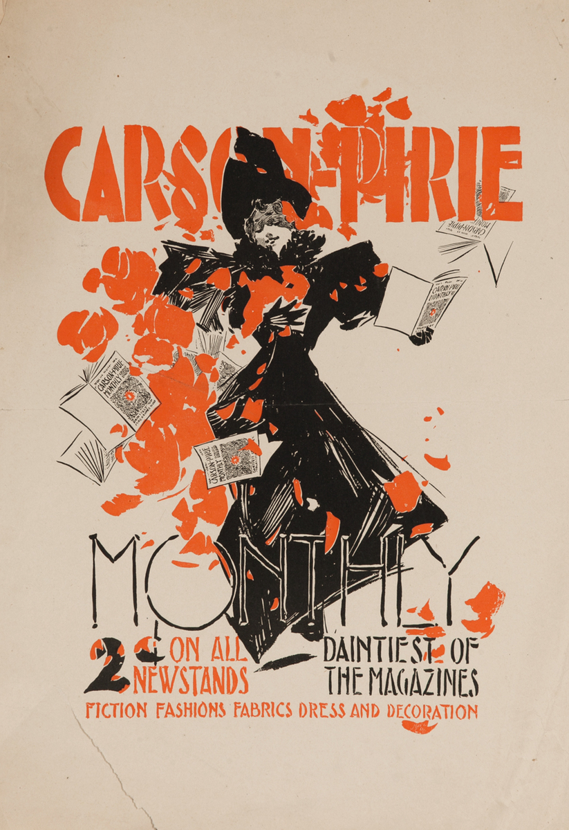 Carson Pirie Monthly, The Daintiest of Magazine American Literary Poster