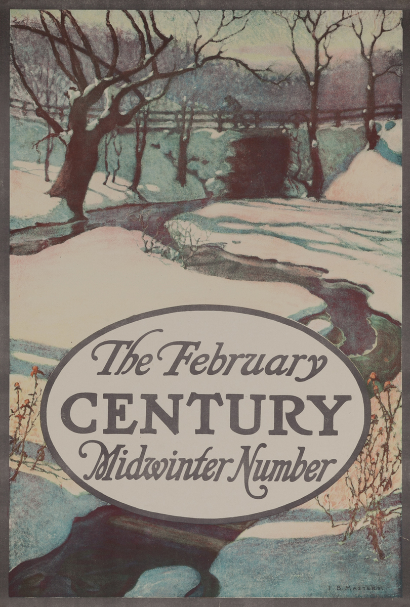 The February Century Midwinter Number American Literary Poster