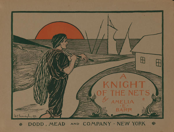 A Knight of the Nets by Amelia E Barr, American Literary Poster