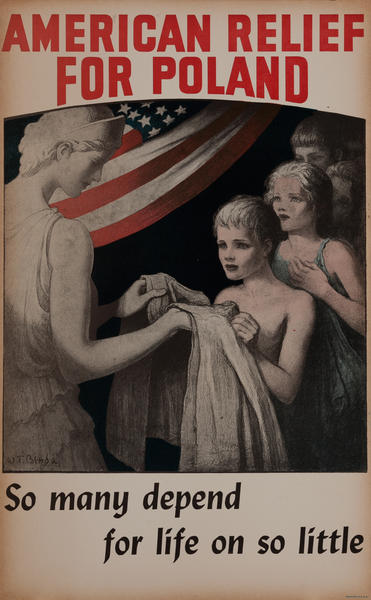 American Relief For Poland WWI Poster<br>So many depend for life on so little