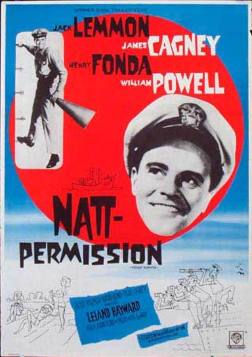 Mister Roberts Original Vintage Movie Poster Swedish Release