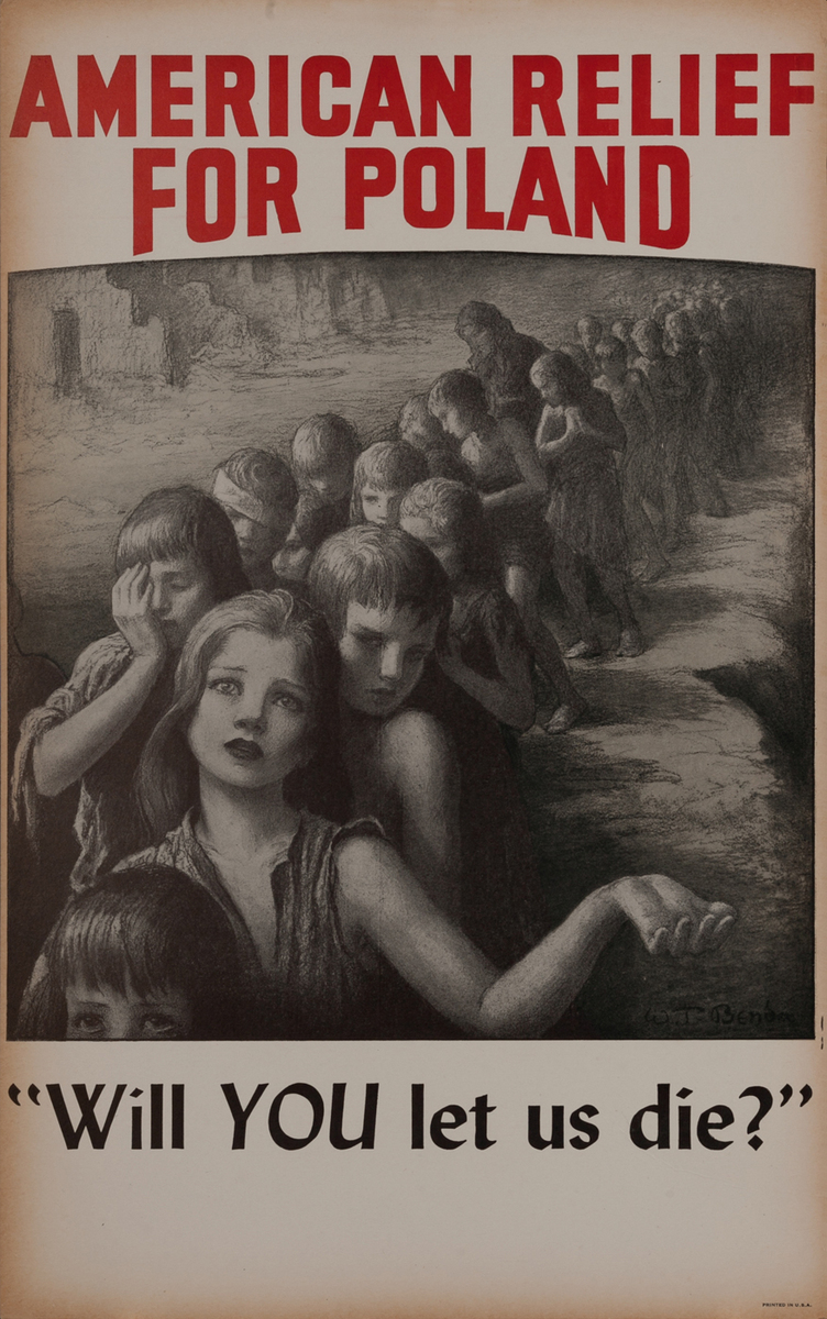 American Relief For Poland WWI Poster<br>Will YOU let us die?