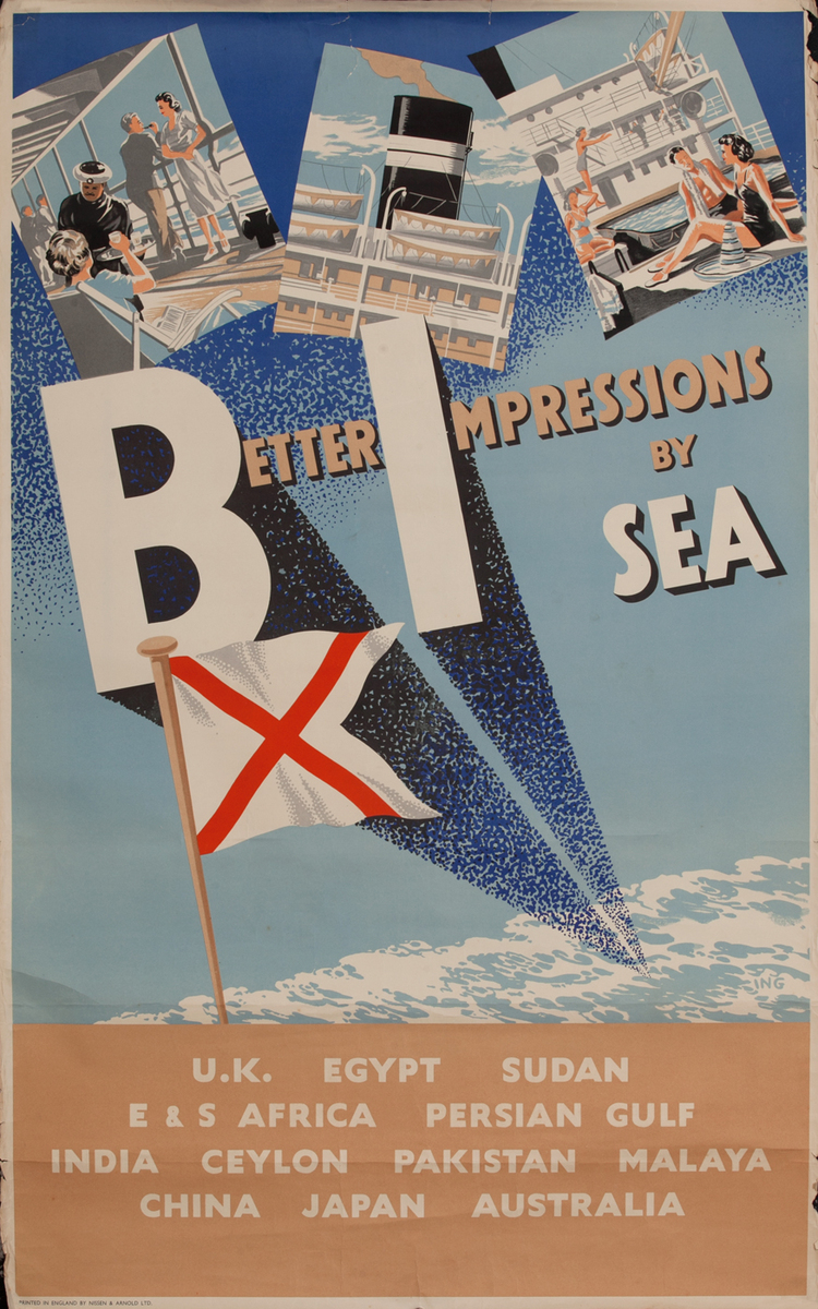 Better Impressions by Sea, BI Cruise Line Poster