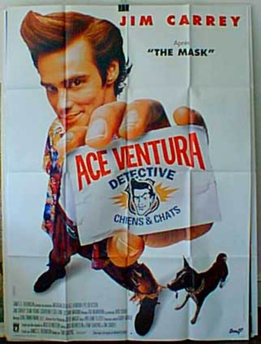 Ace Ventura Pet Detective Original French Movie Poster