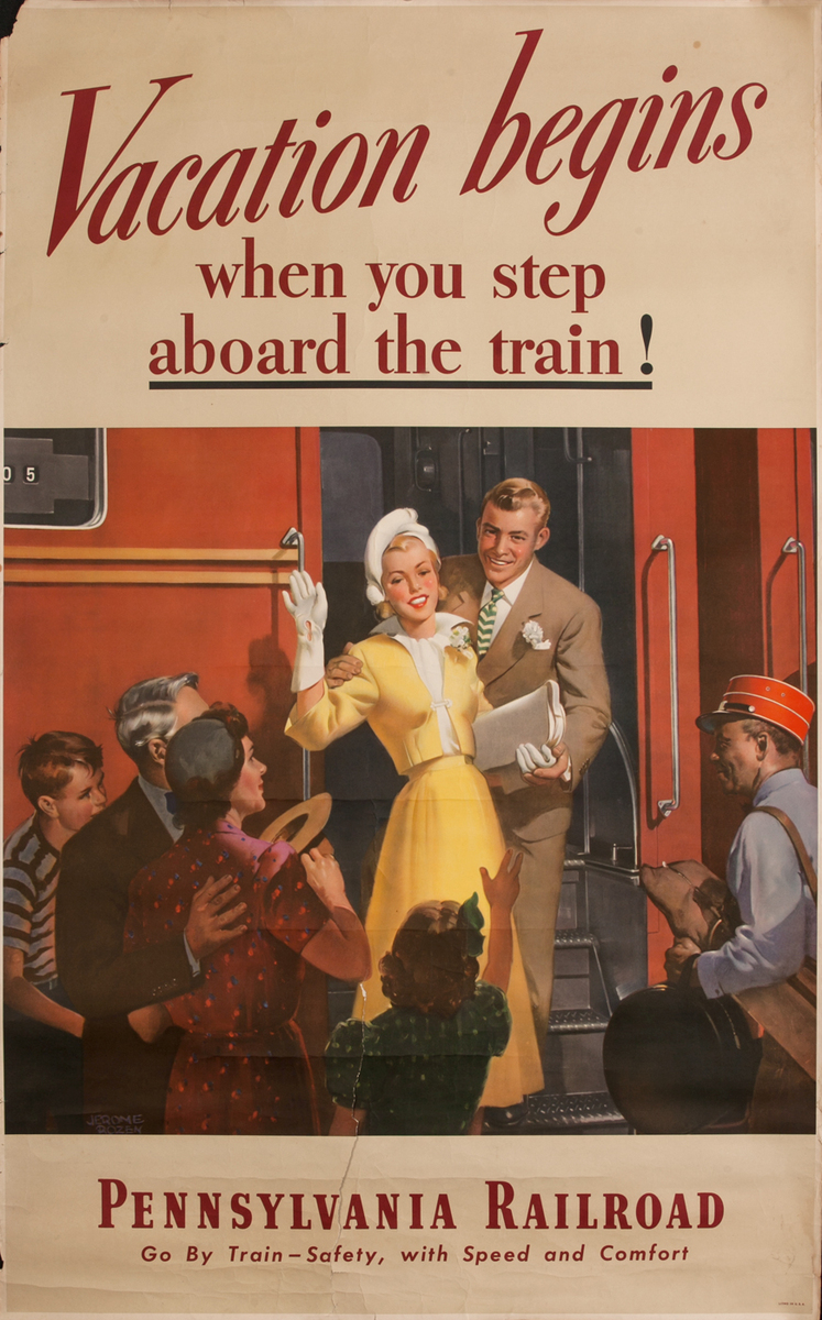 Vacation begins when you step aboard the train! Pennsylvania Railroad