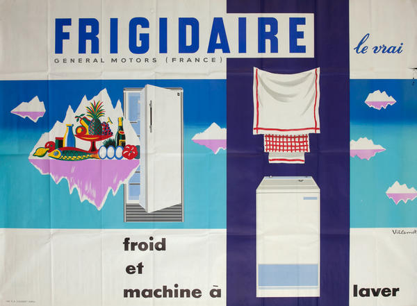 Frigidaire Froid et machine a laver, Refrigerator and washing machine