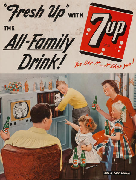 Fresh Up with 7up The All Family Drink