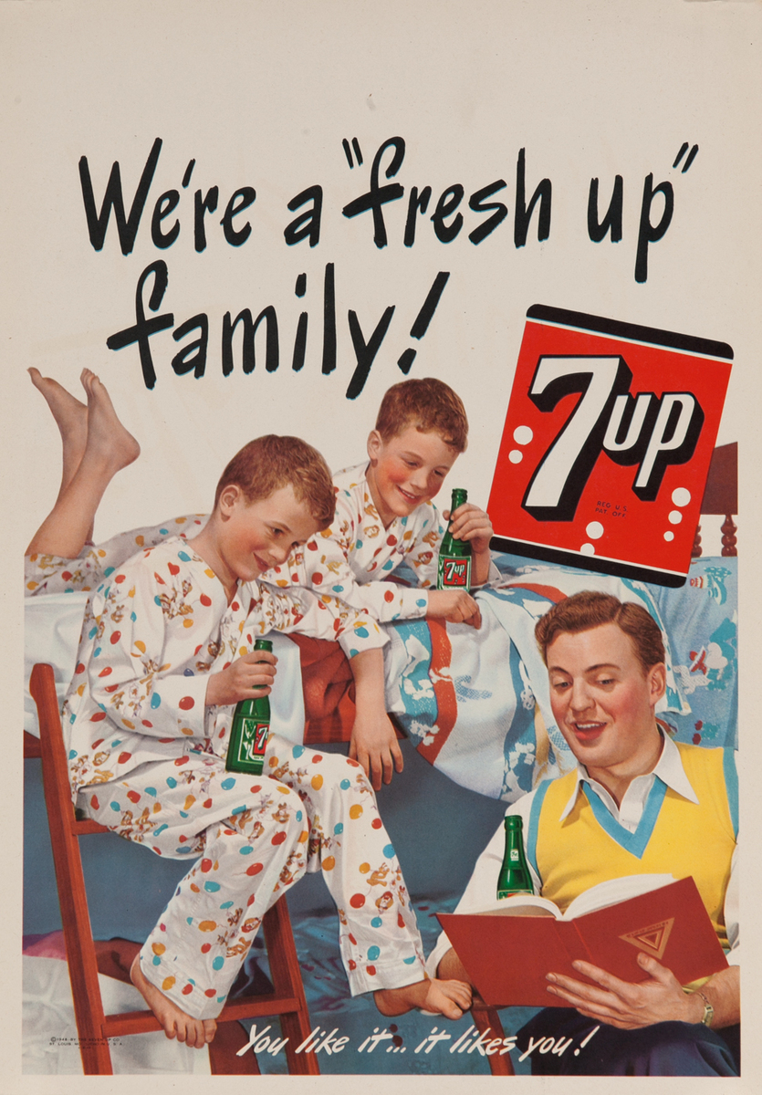 We're a Fresh Up Family, 7up - You like it..  likes you!