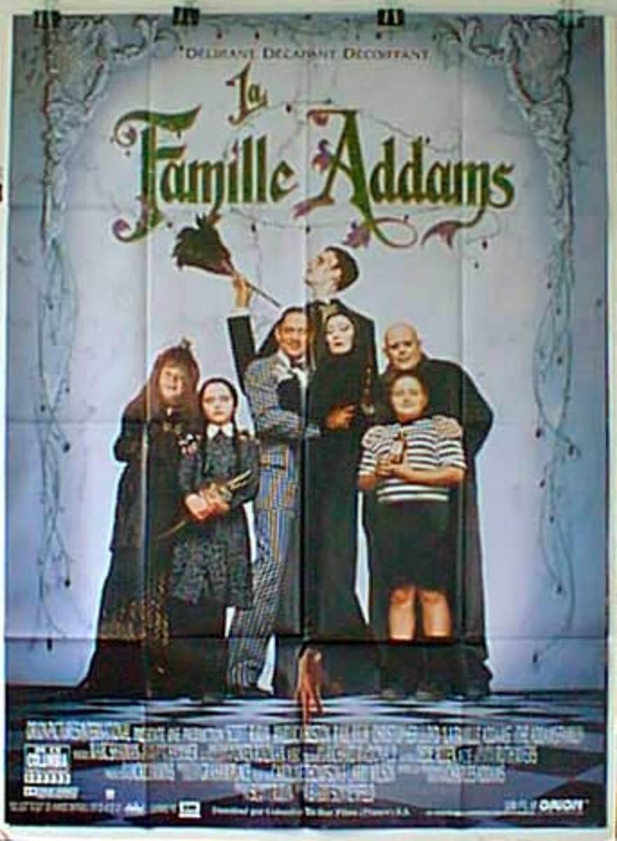 Addams Damily Original French Movie Poster