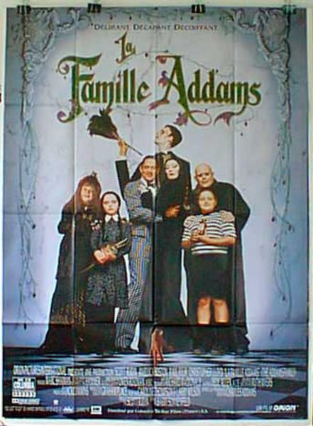 Addams Damily Original French Movie Poster