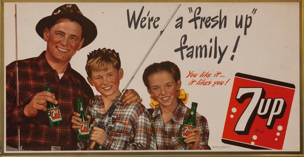 We're a Fresh Up Family, 7up - You like it.. likes you! horizontal