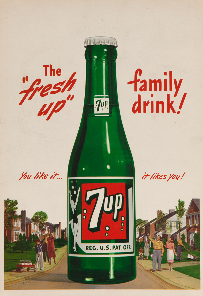 7 up, The Fresh Up Family - You like it.. likes you! Giant bottle