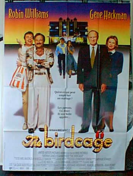 The Birdcage Original French Movie Poster