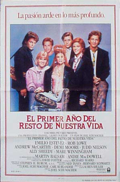 The Breakfast Club Original Vintage Movie Poster Spanish Release