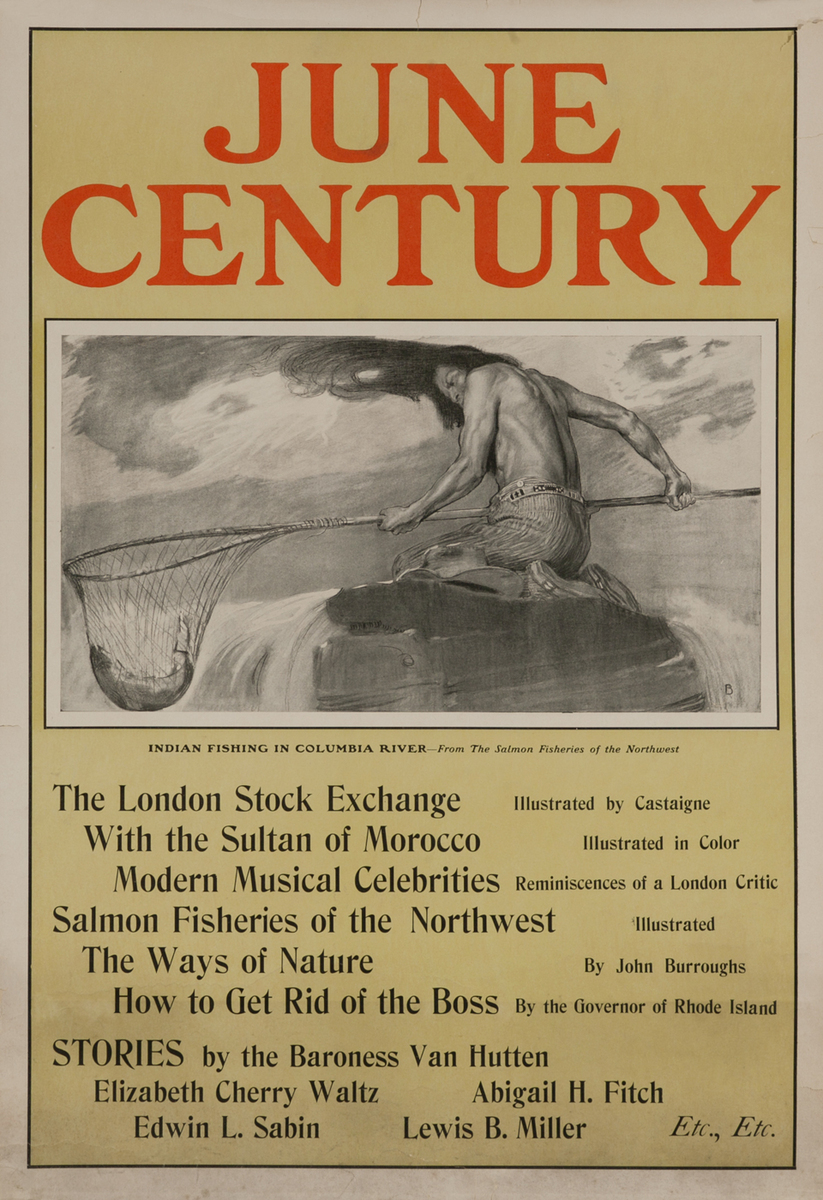 June Century, Indian Fishing in the Columbia River - From the Salmon Fisheries of the Northwest