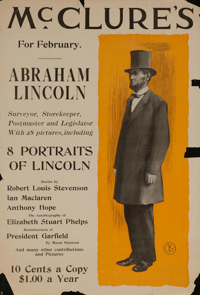 McClure's For February, Abraham Lincoln, 8 Portraits of Lincoln