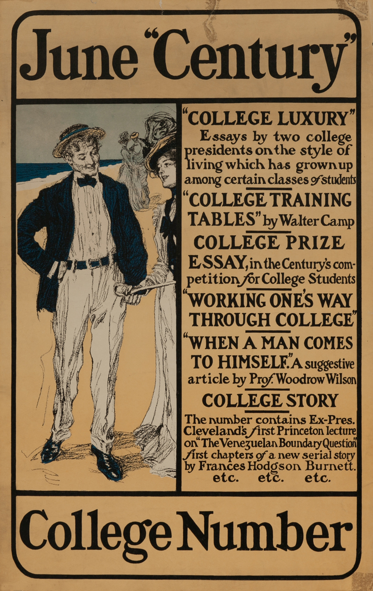 Century June College Number American Literary Poster