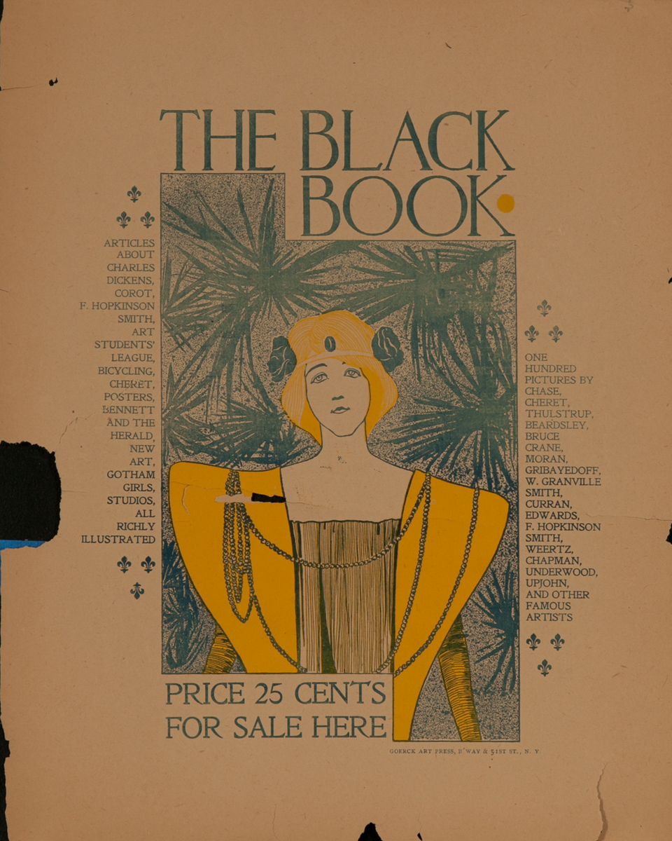The Black Book American Literary Poster