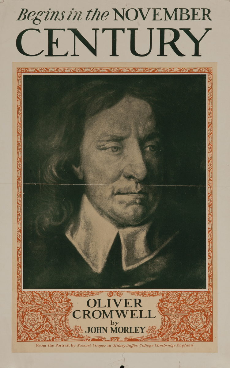 Century November Oliver Cromwell American Literary Poster