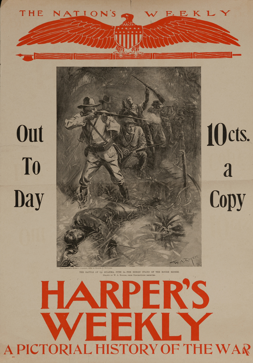 Harper's Weekly A Pictorial History of the War, The Battle of La Guasima
