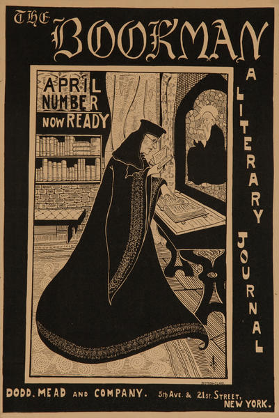 The Bookman April Number,  American Literary Poster