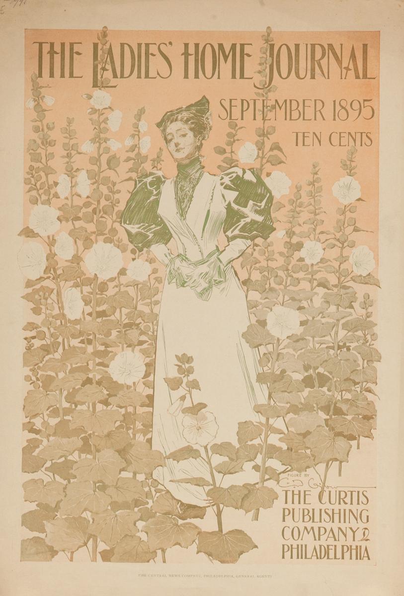 Ladies Home Journal September 1895 American Literary Poster