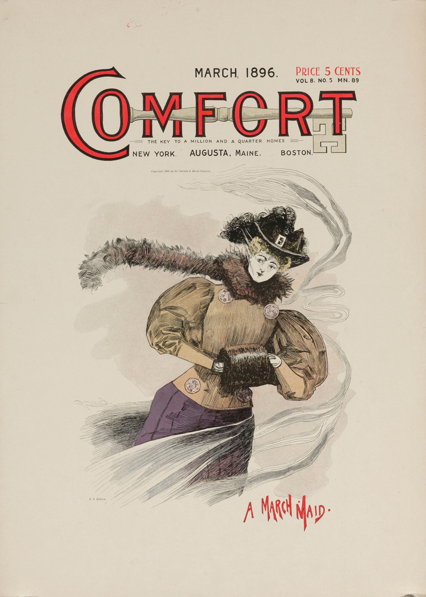 Comfort March 1896 American Literary Poster