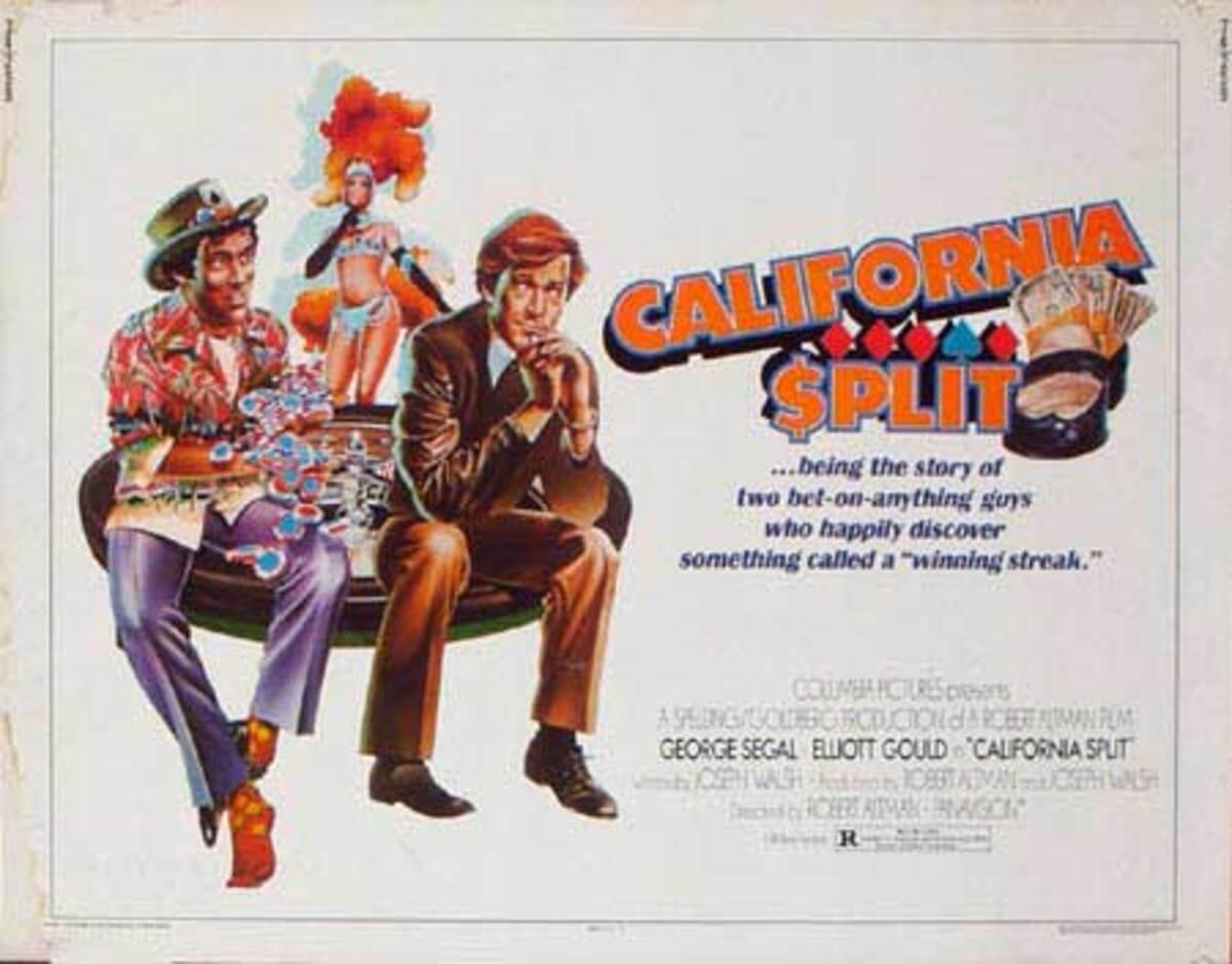 California Split Original Vintage Movie Poster