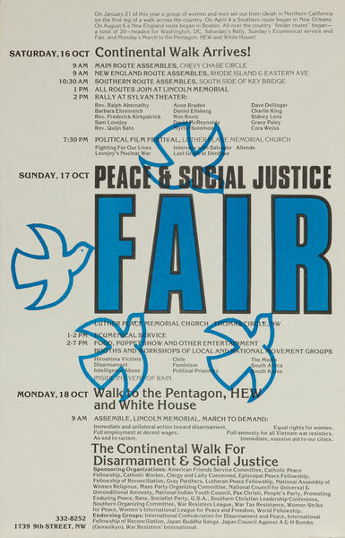 Peace and Social Justice Fair Protest Poster