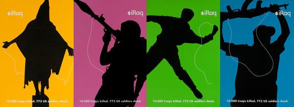 Anti Iraq War Protest - ipod Satire, set of 4 posters